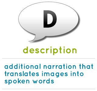Learn more about description how audio description benefits students
